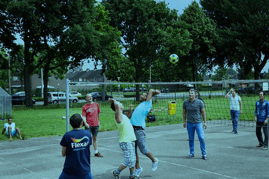 Sport en spel bij het COA in Arnhem